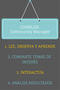 Consejos Community Manager